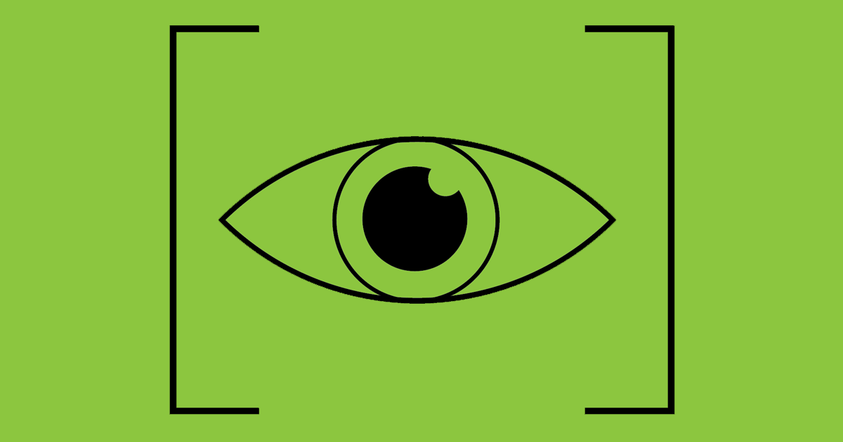 Eye icon with brackets around it